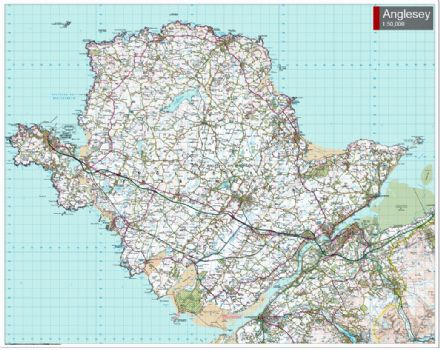 OS Landranger - Anglesey -  Special Sheet - FLAT Rolled in a Tube